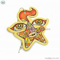 China CMYK printing paper card customized long lasting smell paper car air freshener with own logo on sale
