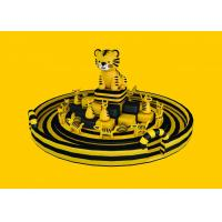 Buy cheap Outdoor Game Inflatable Amusement Park For Children , PVC Tarpaulin Yellow Cat from wholesalers