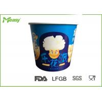Wholesale Blue Color 85oz Disposable paper popcorn cups For Cinema Watching Movie from china suppliers