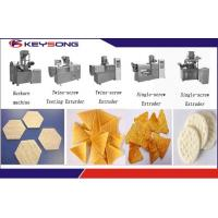 Wholesale Puff Snacks Doritos Making Machine / Corn Flakes Processing Line Steady Performance from china suppliers