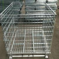 Heavy Duty 50mm Galvanized Welded Metal Storage Cages for Transportation for sale