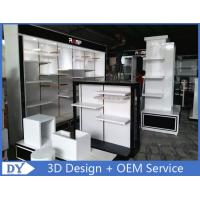 Wholesale Customized men clothes shop wooden metal clothes rack with shelves from china suppliers