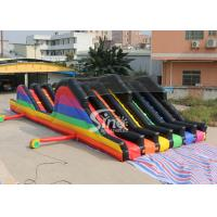 Wholesale 6 Lane Color Run Adults Inflatable Obstacle Course With 2 Hill Slides For Outdoor 5K Sports Activities from china suppliers