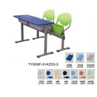 Double seat student desk and chair