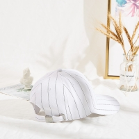 Wholesale Stripe 6 Panel Embroidered Baseball Caps With Back Closure from china suppliers
