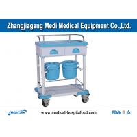 Hospital Treatment Trolley With 2 Drawers , Epoxy Coated Steel Structure