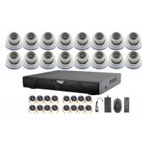 Wholesale 16 Channel AHD DVR Surveillance Video Security Camera Systems With 3.6-16mm Fixed Lens from china suppliers
