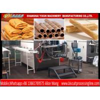 Wholesale Crispy Egg Roll / Wafer Roll Making Machine Line Stable Compact Structure from china suppliers