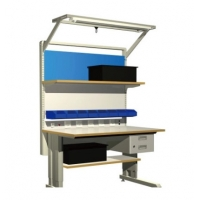 Wholesale Grey Metal 10e6 Ohms Electronic Workstation ESD Workbench from china suppliers