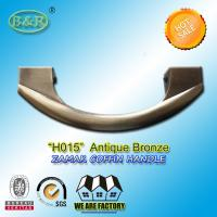 Best 17.5*6.5cm size polished and plated z Zamak Metal Coffin Handles H015 Italy quality antique bronze color wholesale