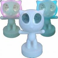 China Color-Changing Clock/Magic Power Cat Clock on sale