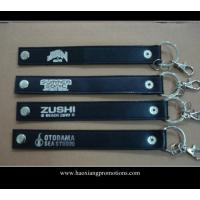 Wholesale High quality custom genuine leather keychain car leather key chain with gift from china suppliers