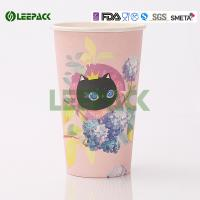 Eco Friendly Disposable Hot Drink Cups 500cc Decorative Disposable Coffee Cups