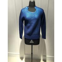 Wholesale Ladies Crew Neck Floral Print Sweater Pullover With 90% Wool 10% Cashmere  Material from china suppliers