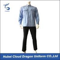 Breathable Blue Long Sleeve Security Shirt Uniform For Security Guards