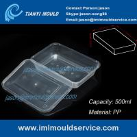Wholesale PP 500ml clear thin wall rectangular plastic takeaway food storage mold from china suppliers