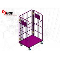 Portable Roll Container Trolley Logistic Cage With Layers Loading Capacity 500kg for sale