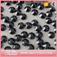 Wholesale Wholesale SS10,SS16,SS20 Black Jet Hotfix Strass Stone Iron On Rhinestone  Flat Back Jewelry Accessories Trim for Bags from china suppliers