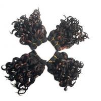 China Short 8 Black Synthetic Hair Extensions Highlight With High Temperature Fiber on sale