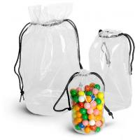 Transparent PVC Drawstring Bags Storage Bag Drawstring Backpacks in Round Shape