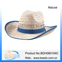 Wholesale 2015 cheap wholesale roll brim hollow straw cowboy hat from chinese from china suppliers
