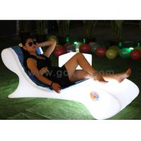 China Waterproof Plastic LED Lounge Chair For Pool With Infrared Remote Control on sale