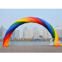 Wholesale Outdoor beautiful rainbow advertising inflatable arch for event parties or ceremonies from china suppliers