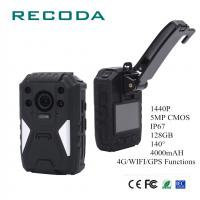 Wholesale Shock Proof IP67 Police Officers Wearing Body Cameras Real Time Monitor GPS HD 1440P from china suppliers