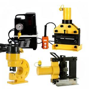China Portable 12x200mm Copper Busbar Bending Machine , Busbar Cutting Bending Machine on sale