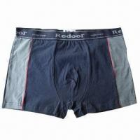 Wholesale Boxer Shorts, Made of Bamboo Charcoal and Copper Yarn, Anti-bacterial from china suppliers