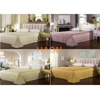 Wholesale 100% Cotton Hotel Bed Sheets Standard Size Flat  300T  3cm stripes from china suppliers