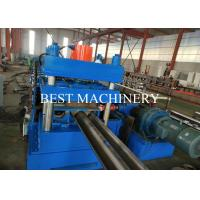 China Road Safety Highway Guardrail Roll Forming Machine 22kw Power PLC Control for sale