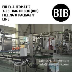 Fully-automatic 5L 10L 20L Bag-in-Box Filling Machine BIB Packaging Line