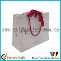Colorful Gold Stamping 80gsm Brown Kraft Paper Carrier Bags Printed for Shopping​ for sale