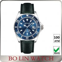 Deep Sea Diving Classic Style Stainless Steel Dive Watch With Leather Strap ETA Movement
