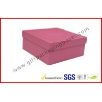 Rigid Luxury Pink Gift Boxes Matt Lamination , jewelry gift boxes for sale