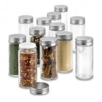 China Glass Round Shaker Spice Jar for sale