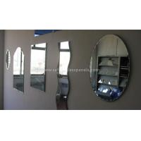 China Double Coated Paint Aluminium Glass Mirror , Decorative Bathroom Mirror With Shelf for sale