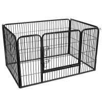 China FEANDREA Heavy Duty Metal Dog Crate Enclosure Exercise Panel Black Color for sale