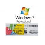 China Genuine Microsoft Windows 7 License Key Multi Language Win 7 Pro Professional COA License Sticker for sale
