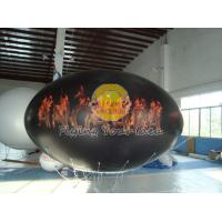 Wholesale Waterproof and Fireproof Black 0.18mm PVC Oval Balloon with Total Digital Printing from china suppliers