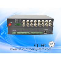Quality 16ch video audio data ethernet media fiber converter for CCTV system for sale