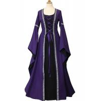 Wholesale Medieval Dress Wholesale XXS to XXXL Custom Made Purple Medieval Victorian Dress Cosplay For Halloween Party from china suppliers
