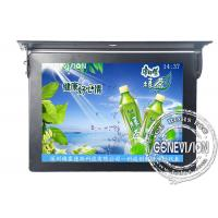 China Ceiling Mounted FCC / SGS Bus LCD Advertising Players with Calendar Function on sale