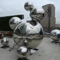 Wholesale Custom large size mirror finish Sphere Sculpture stainless steel decoration ball from china suppliers