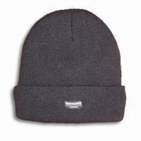 Buy cheap 100% Acrylic Knitted Hat with Thinsulate Lining, Available in Men's Sizes from wholesalers