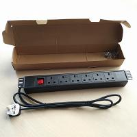 "Wholesale 19"" 1U PDU UK Socket, 6 ways. CE/ROHS certification from china suppliers"