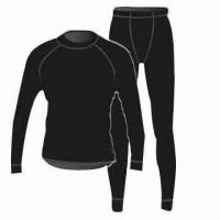 Wholesale Merino Wool Thermal Underwear, 100% Machine Washable, Natural Stretch from china suppliers