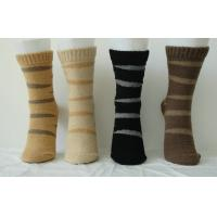 Wholesale Luxury Bilateral Cashmere + Spandex Custom Sports Striped Socks for Women from china suppliers