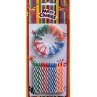 Wholesale Multi-colors Spiral Birthday Candles with Flower-shaped Holders (LWC0052) from china suppliers